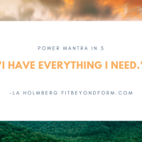 5 word POWER mantra